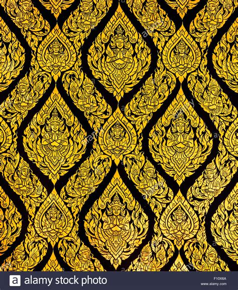 thai pattern history thai style art of pattern on the door in temple thailand