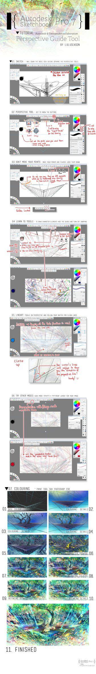 sketchbook pro perspective tool 25 best ideas about sketchbook pro on