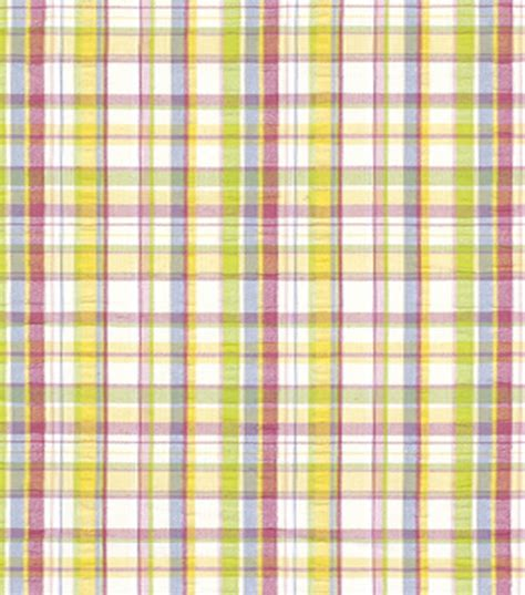 Plaid Home Decor Fabric Home Decor Fabric Robert Allen Salt Pond Plaid Summer Fabric At Joann