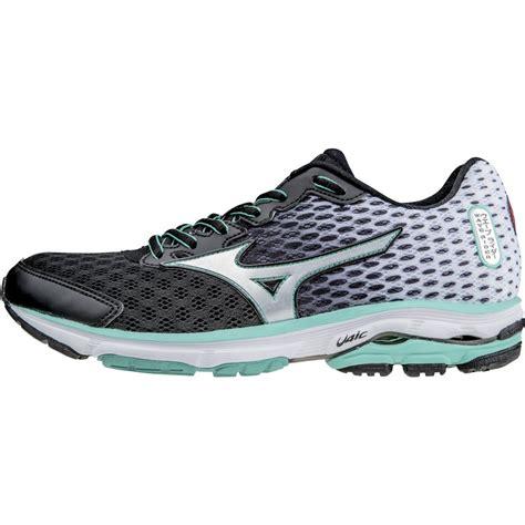 wave running shoes mizuno wave rider 18 womens running shoes black grey at
