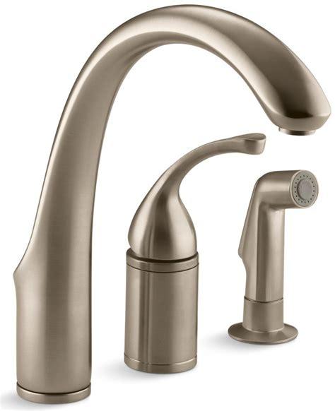 kohler kitchen faucets 4 hole kohler forte 174 3 hole kitchen sink with remote valve and