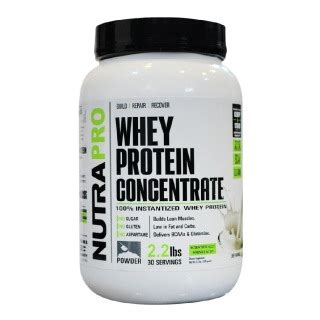 Whey Concentrate Nutrapro Whey Protein Concentrate 2 2 Lb Unflavoured