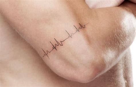 heart rate tattoo best 25 rate ideas on