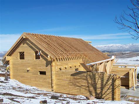 Log Cabin Contractors log cabin roof construction utah contractors