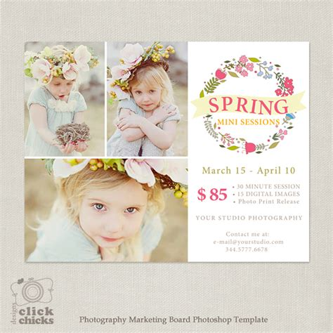Spring Mini Session Marketing Template For Photographers 076 Free Mini Session Templates