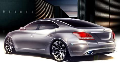2010 hyundai equus sketches unveiled the torque report