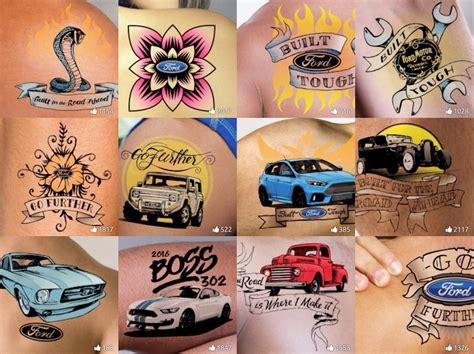 virtual tattoo prove you are true blue with a ford