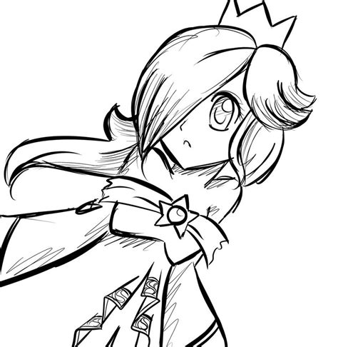 princess rosalina coloring page www imgkid com the