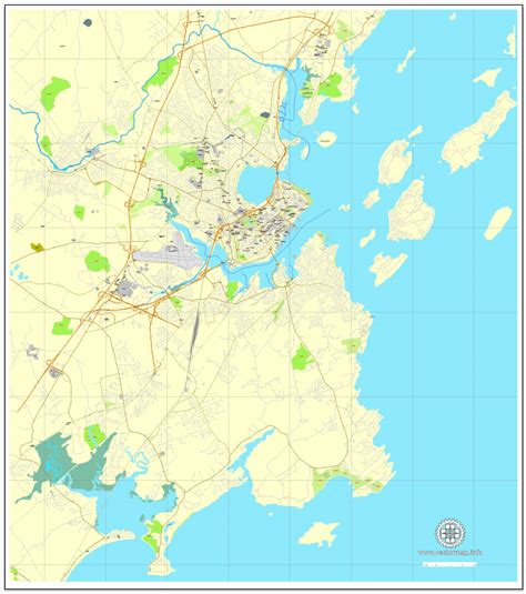 map us maine portland maine us exact vector city plan map v3 09 editable adobe illustrator