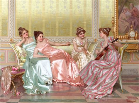 regency painting la soiree by vittorio reggianini trisha cleveland ms viz