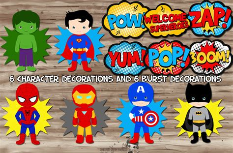 printable superhero party decorations superhero party decorations superhero pop art superhero