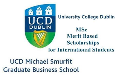 Scholarship Merit Based Mba by College Dublin M Sc Merit Based Scholarships 2018