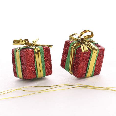 miniature red gift box ornaments new items
