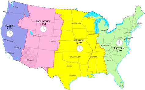 usa map zone time geography us maps time zones