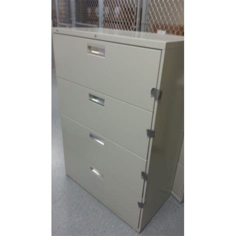 hon grey 4 drawer lateral file cabinet locking allsold