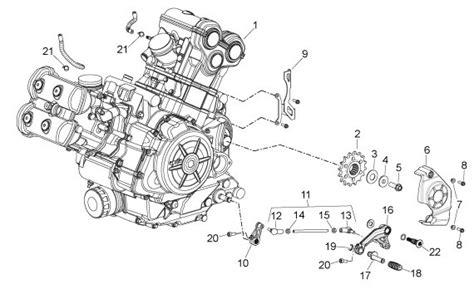 motor shiver technische tekeningen aprilia parts