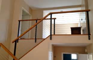 Stainless Steel Banister Handrail Black Railing Posts With Stainless Cable Modern Other