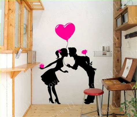 boy kissing a girl in bedroom kissing lover in love boy and girl vinyl wall decal sticker living room bed room
