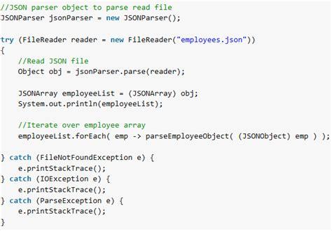 tutorial json html json simple read json exle howtodoinjava