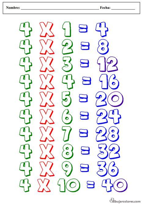 fotos tabla de multiplicar del 4 tablas de multiplicar del 2 al 9 new calendar template site