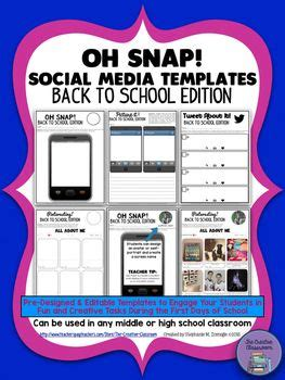 oh snap editable social media template back to school