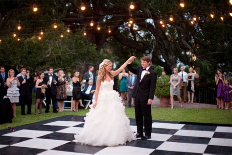 backyard wedding dance floor photo of the day bridalguide