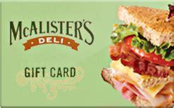 Mcalister S Deli Gift Card - buy mcalister s deli gift cards raise
