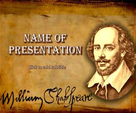 shakespeare powerpoint template drawing education powerpoint templates free