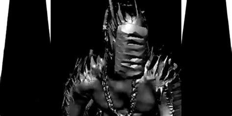 black skinhead computer generated kanye west dances naked in yanked music