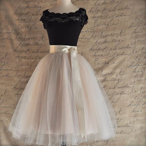 Tulle Skirt palest chagne tulle skirt fluffy tulle layers with circle