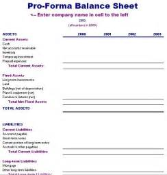 pro forma financial statement template pro forma balance sheet template free layout format