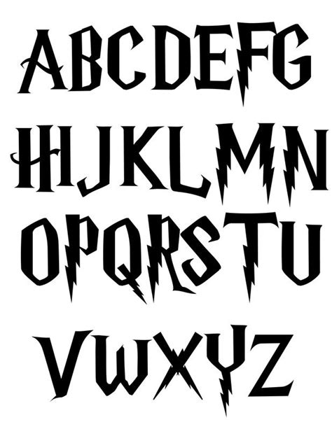 harry potter fonts 25 best ideas about harry potter alphabet on pinterest