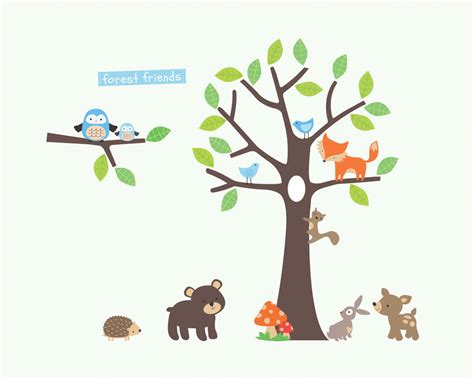 woodland tree woodland tree wall stickers by parkins interiors