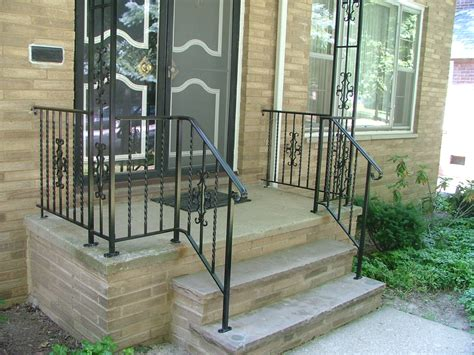 Front Door Railings Finelli Ironworks Stoop And Step Railings Archives Finelli Ironworks