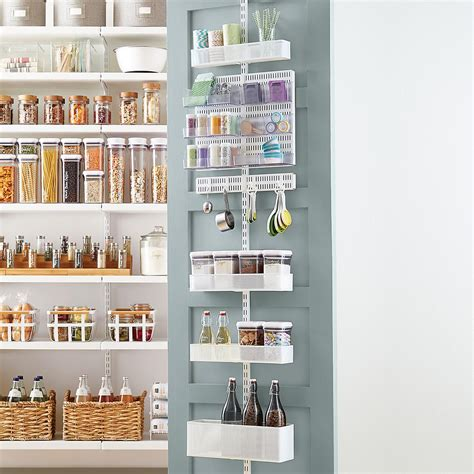 elfa pantry elfa utility white mesh pantry door wall rack the