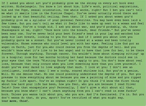 Will Quotes Robin Williams Monologue by Robin Williams Monologue In The Will