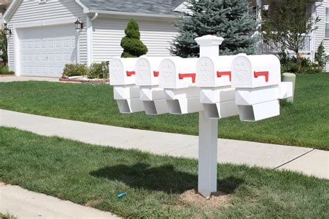 mailbox with vinyl mailboxes add curb appeal to your home with