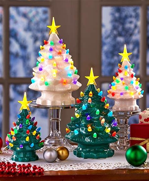 large plastic table size christmas trees that light up vintage ideas and inspiration tidbits
