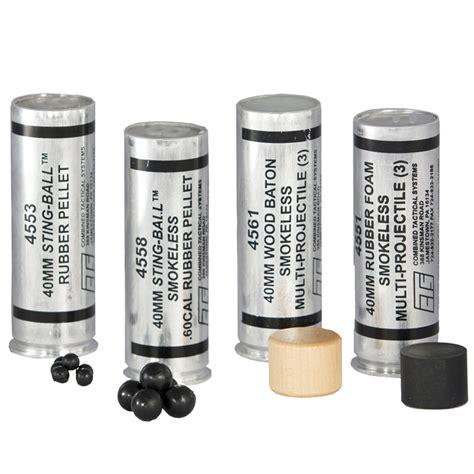 rubber sting companies cts 40mm sting rubber buckshot 4553 4558