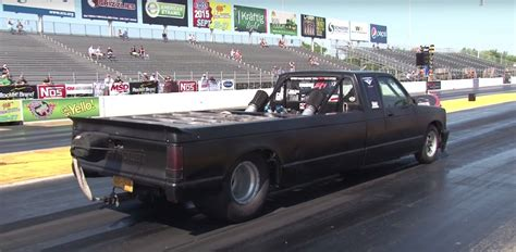 s10 bed size stretched chevy s10 truck has a twin turbo big block in