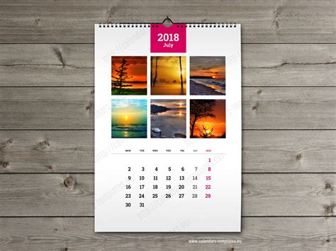 wall calendar templates wall calendar a3 printable photo yearly monthly