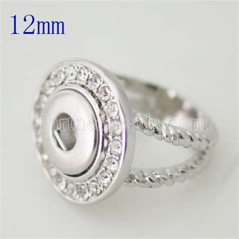 Snap Ring H 12 Mm Hitam popular fashion snap designer diy matal ring oem odm 12mm snap rings button inner ring 18