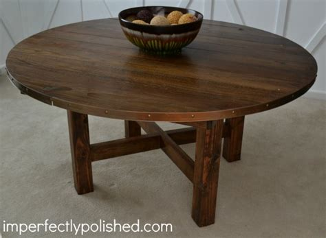 Circular Wooden Table This Diy Rustic Table Would Be Great For The Cake Or