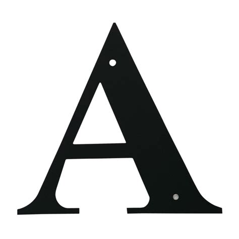 Village Wrought Iron: Letter A Large A