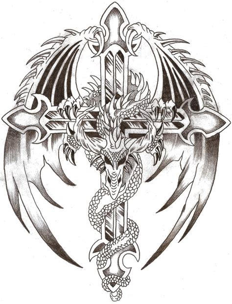 dragon cross tattoo designs tattoos of crosses three reasons you may possibly