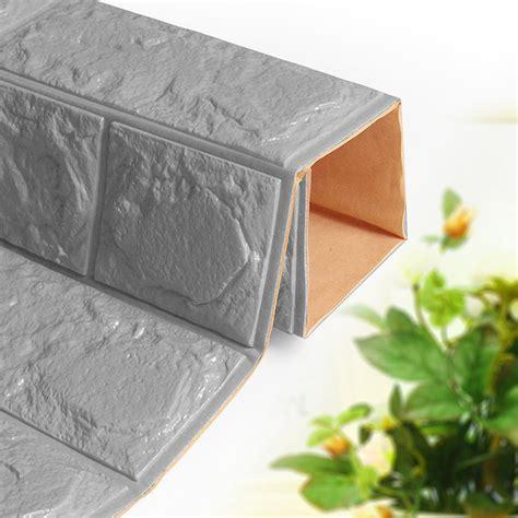 self adhesive wall stickers new 3d foam brick self adhesive wallpaper diy wall sticker panels decal ebay