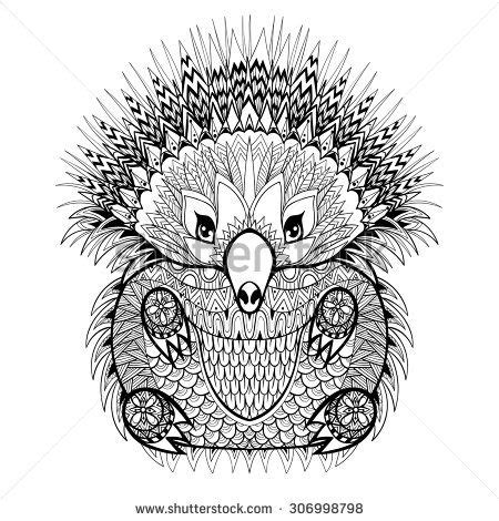 anti stress colouring book australia totem echidna australian animal illustration