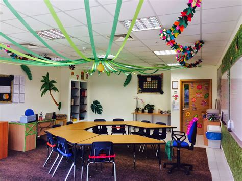 Ceiling Decorations For Classroom by The Charming Classroom Island Jungle Theme
