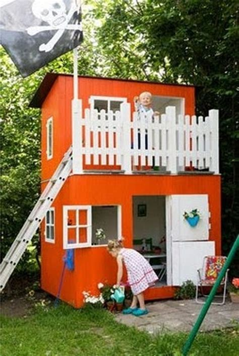 8 new ideas for outdoor playhouses kidsomania