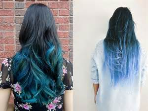 2015 colour hair trends best blue black hair dye long hairstyles
